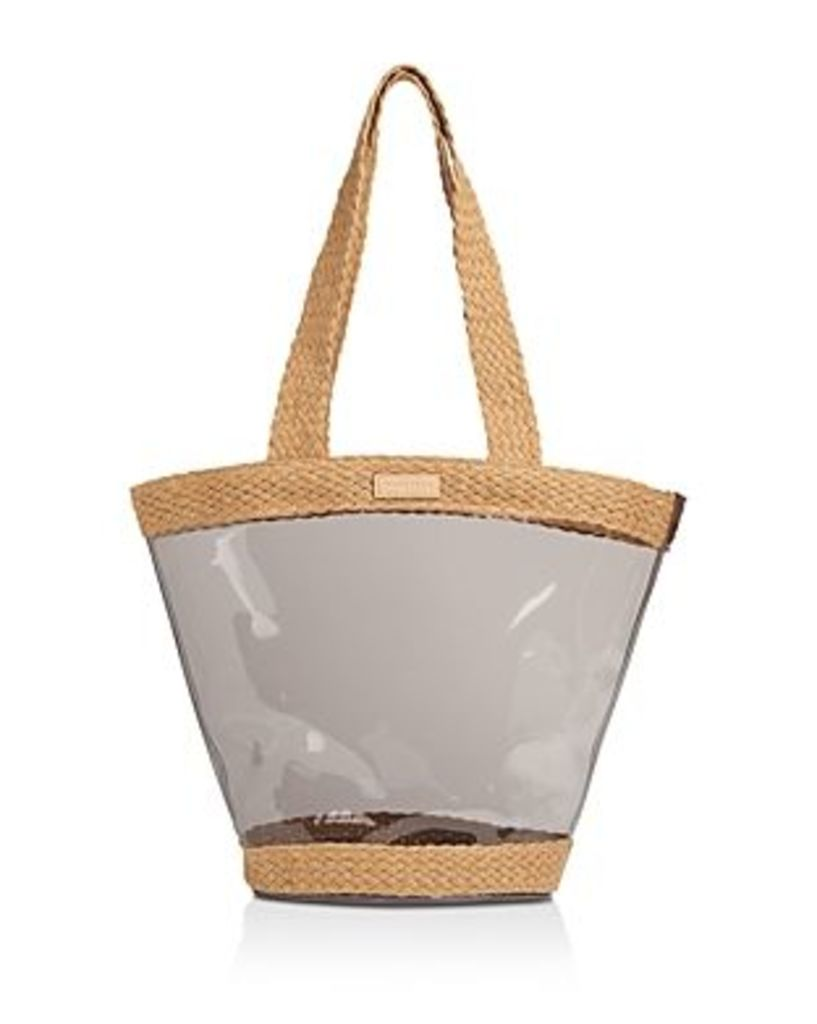 Whistles Dean Perspex Clear & Woven Tote