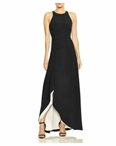 Halston Heritage Color-Block Crepe Gown