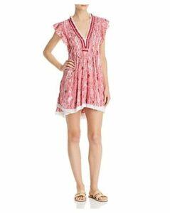 Poupette St. Barth Sasha Fringe-Trim Mini Dress