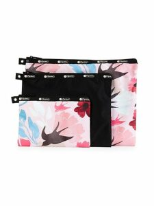 3-Piece Printed Cosmetic Bag Set