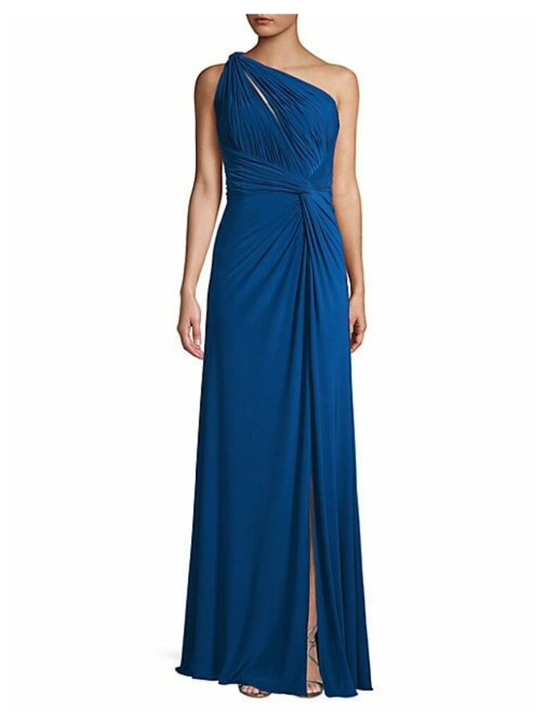 Asymetrical One-Shoulder Gown