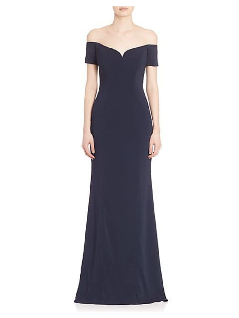 Off-The-Shoulder Short Sleeve Gown