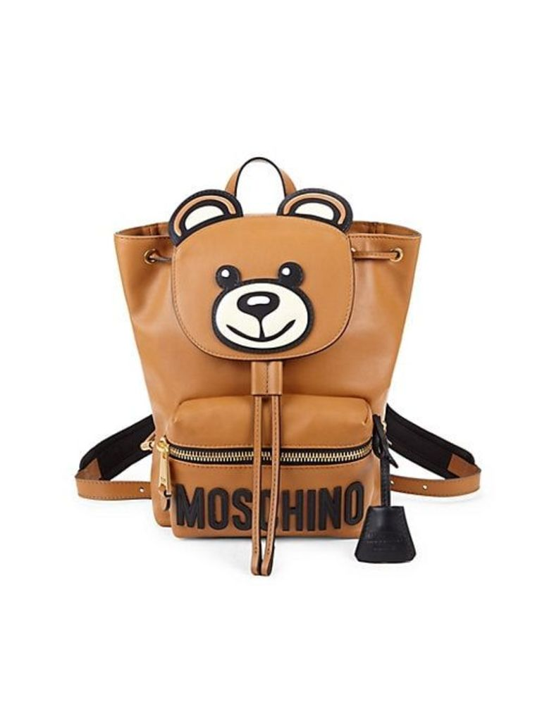 Teddy Bear Leather Backpack