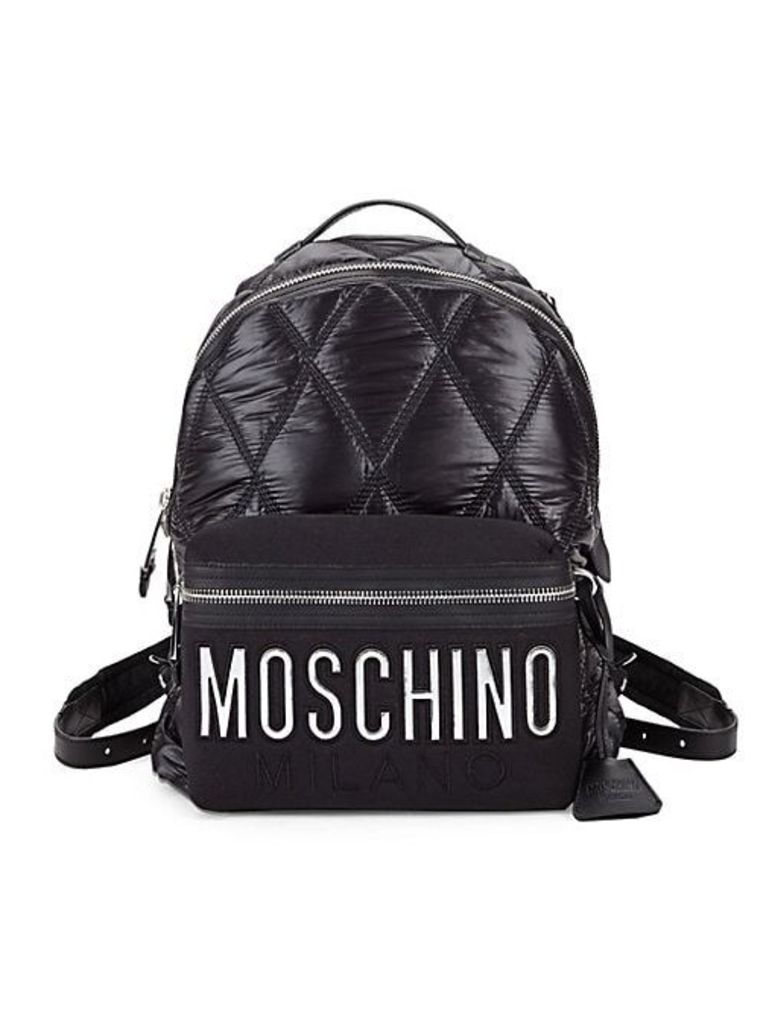 Fantasia Diamond Quilted Logo Backpack