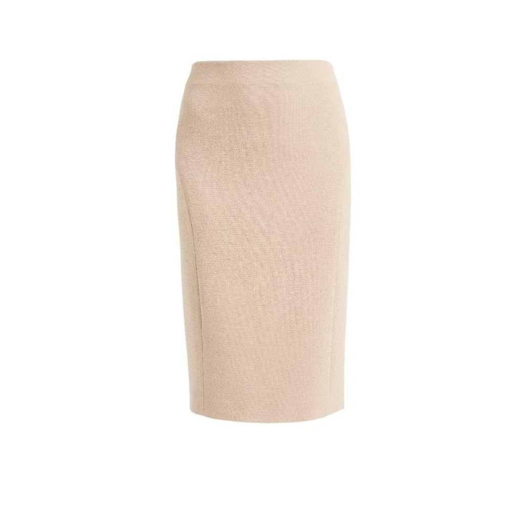 WtR Sky Nude Wool Pencil Skirt