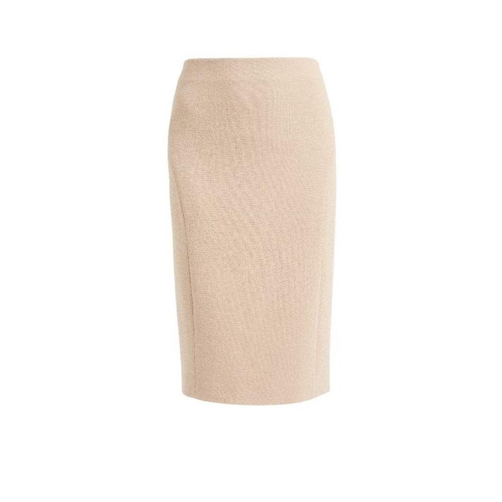 WtR Sky Nude Wool Pencil Skirt