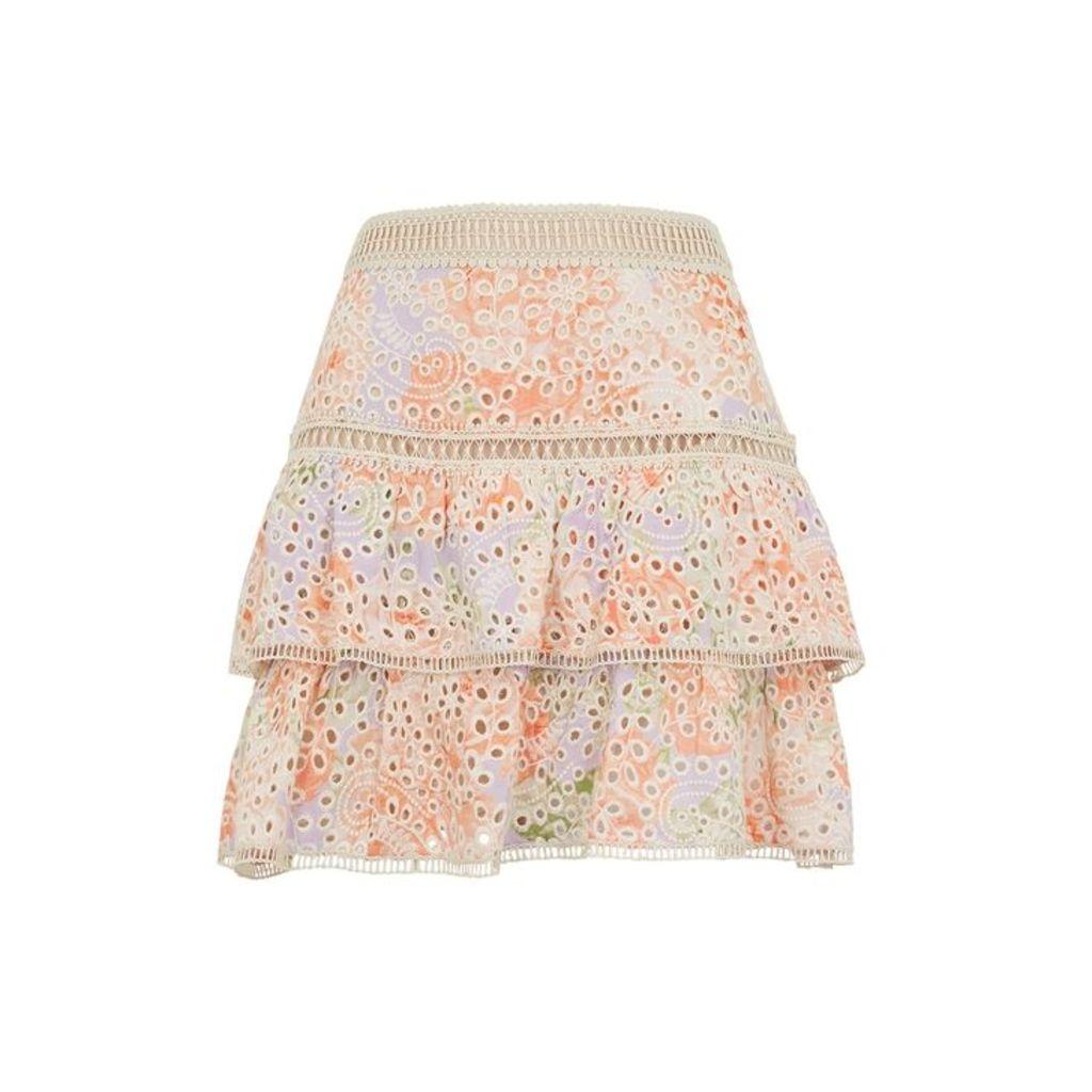 Alice + Olivia Kirsten Floral-print Skirt