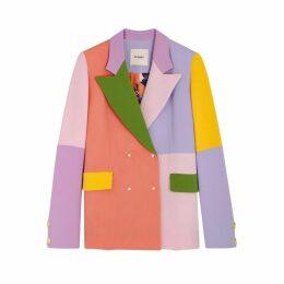 Brøgger Gurli Colour-blocked Wool Blazer