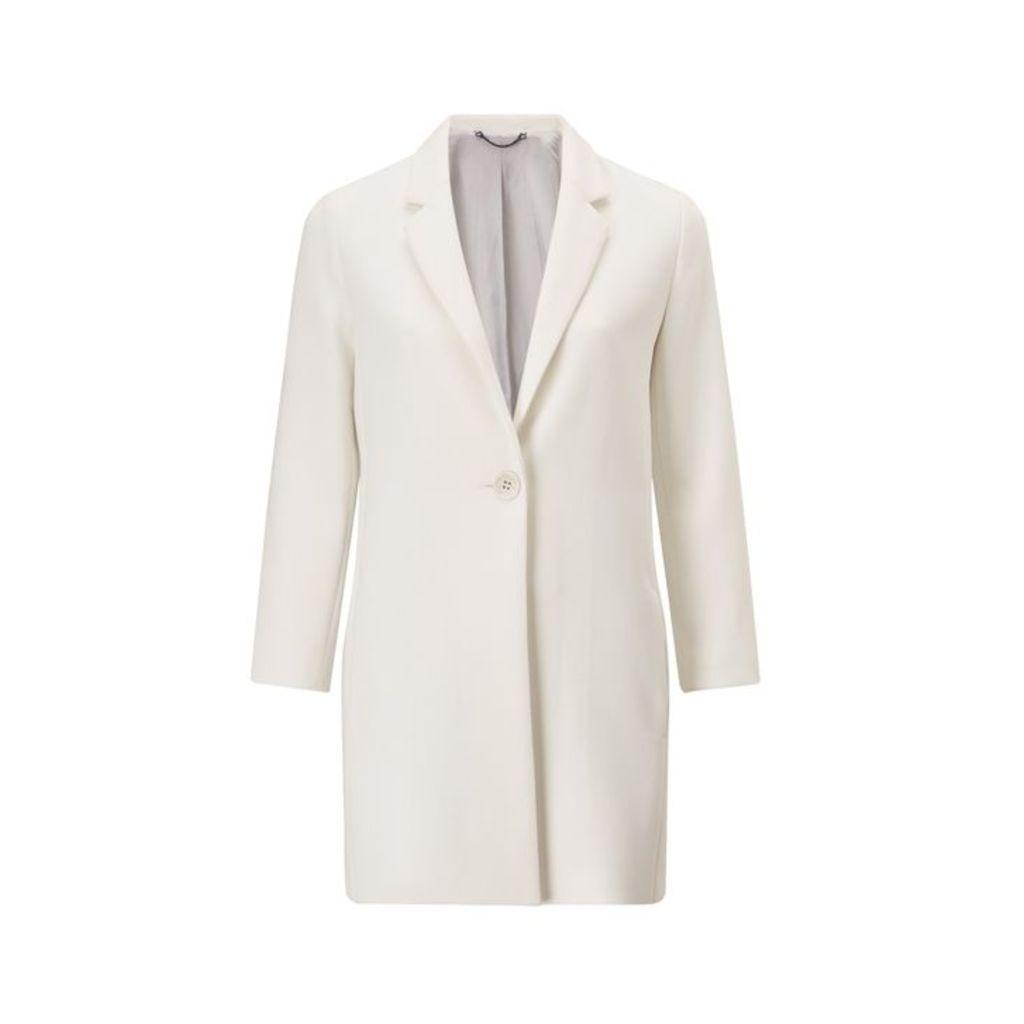 Jigsaw Modern One Button Coat