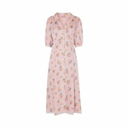 Kitri Siena Pink Floral Tea Dress