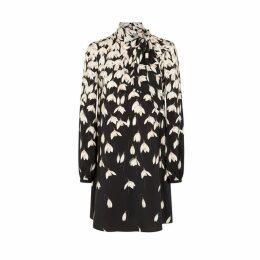 Valentino Floral-print Silk Crepe De Chine Dress