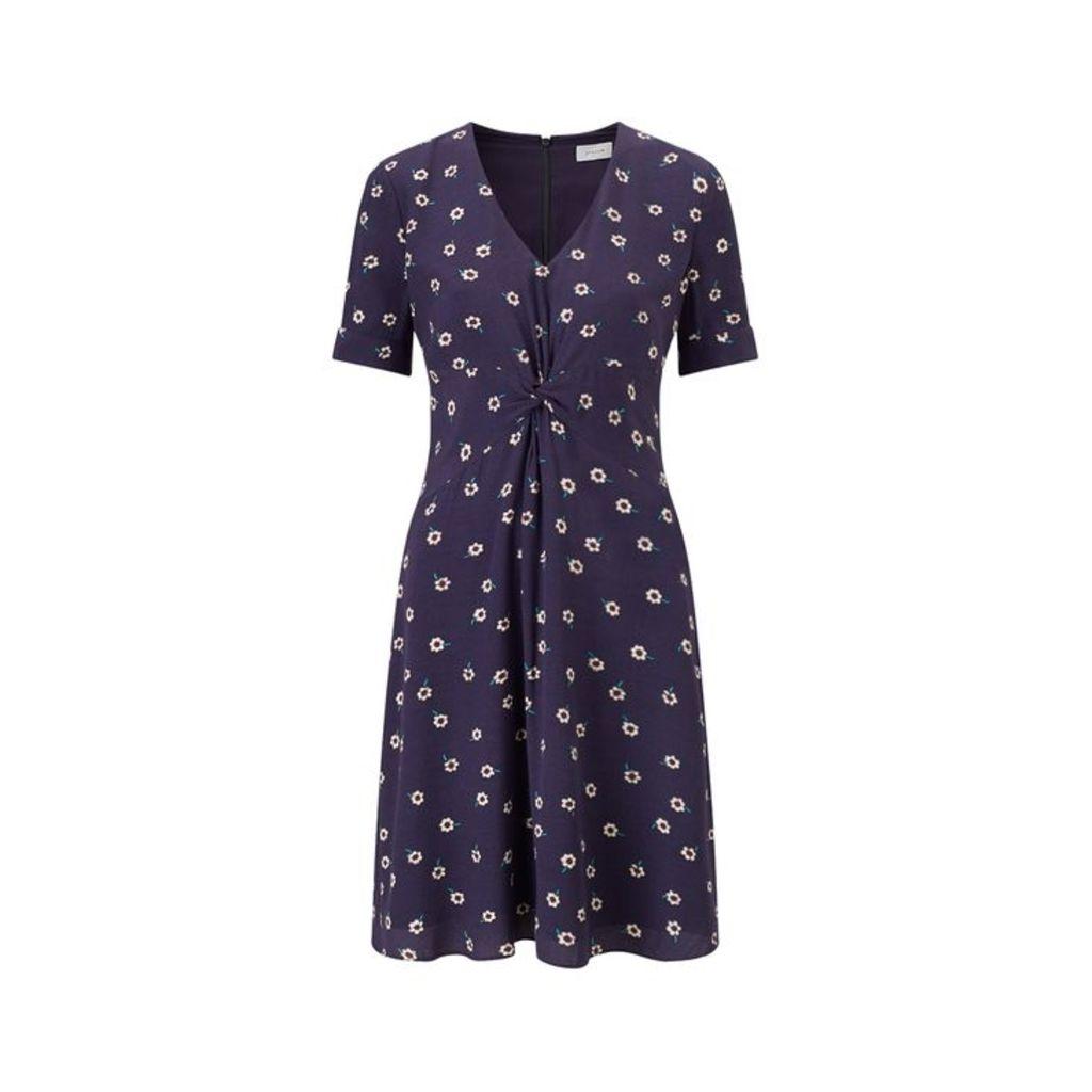 Jigsaw Daisy Twist Front Tea Dress