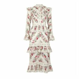 Zimmermann Honour Floral-print Cotton Midi Dress