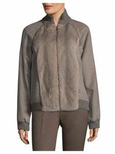 Mink Fur & Cashmere Jacket