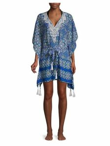 Printed Self-Tie Cover-Up