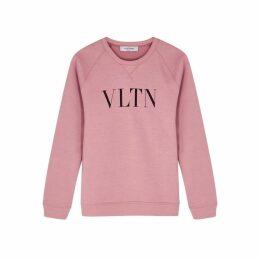 Valentino VLTN-print Stretch-cotton Sweatshirt