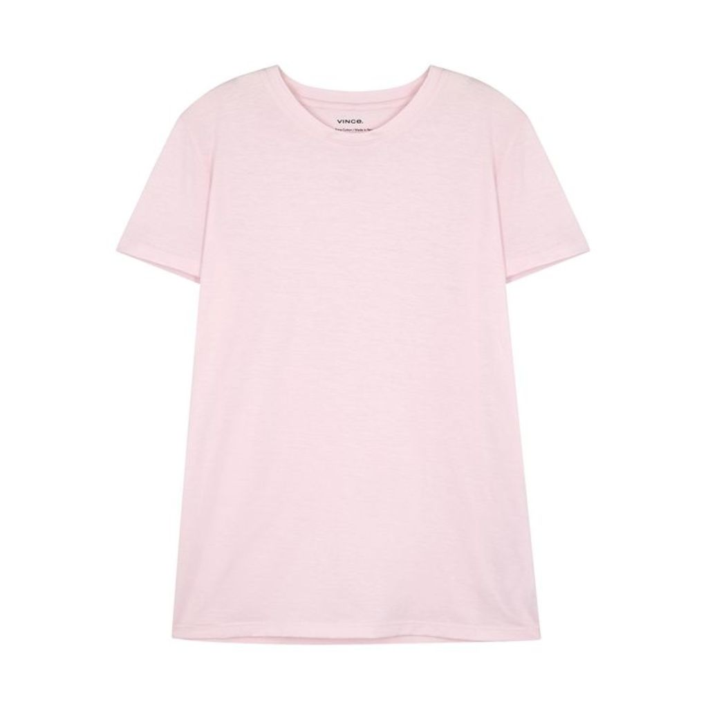 Vince Light Pink Pima Cotton T-shirt