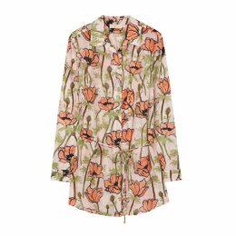 Tory Burch Poppy-print Cotton-blend Shirt