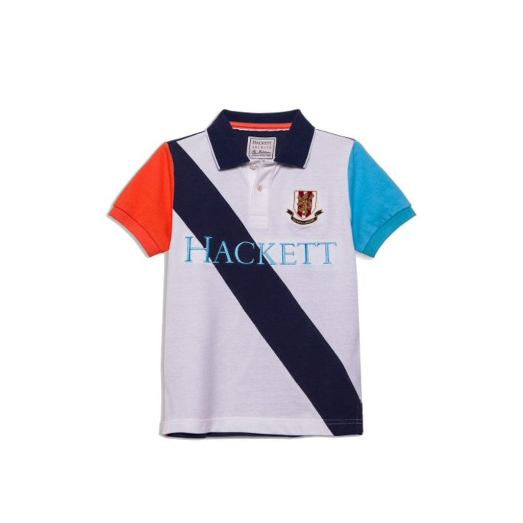 Hackett Sash Detail Cotton Short-sleeved Polo Shirt