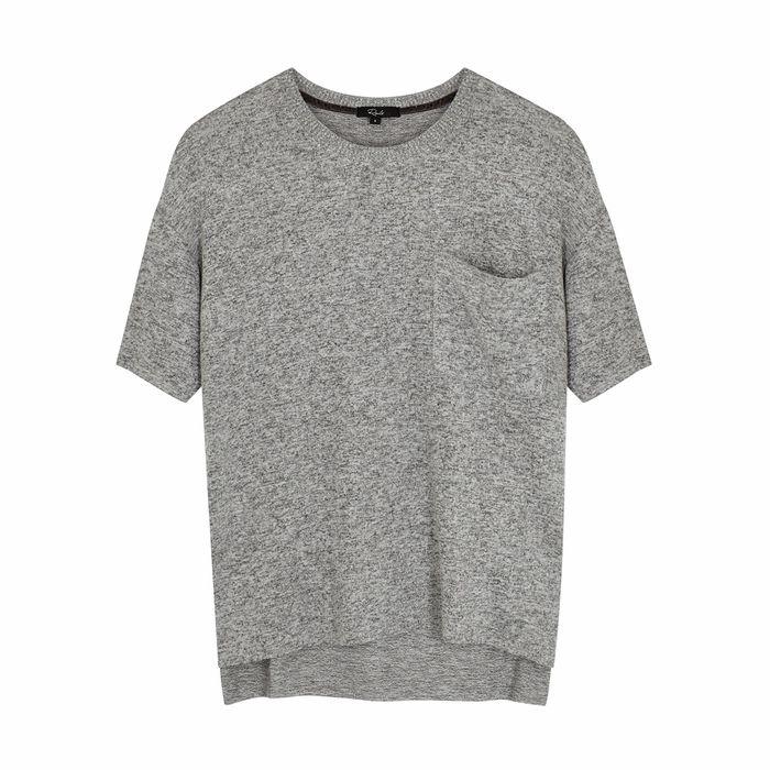 Rails Micah Grey Stretch-knit T-shirt