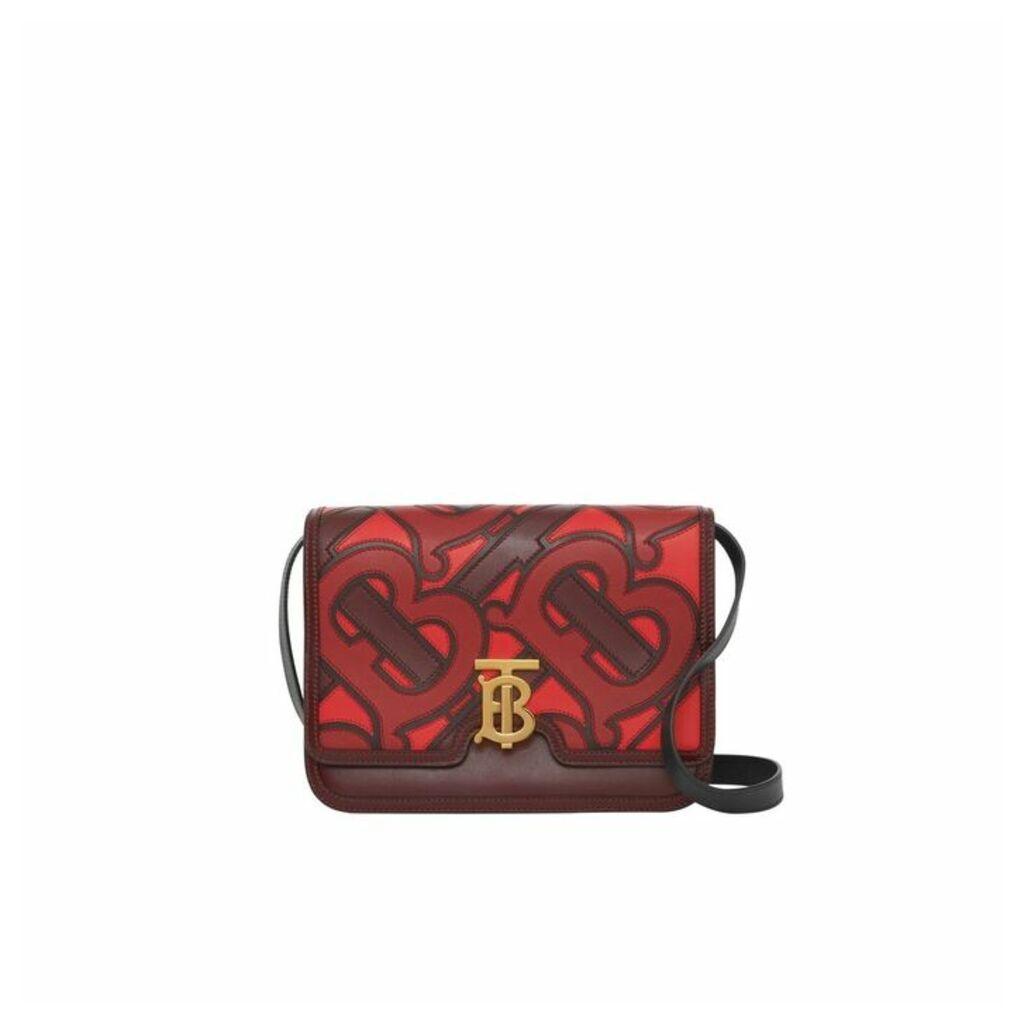 Burberry Medium Monogram Applique Leather TB Bag