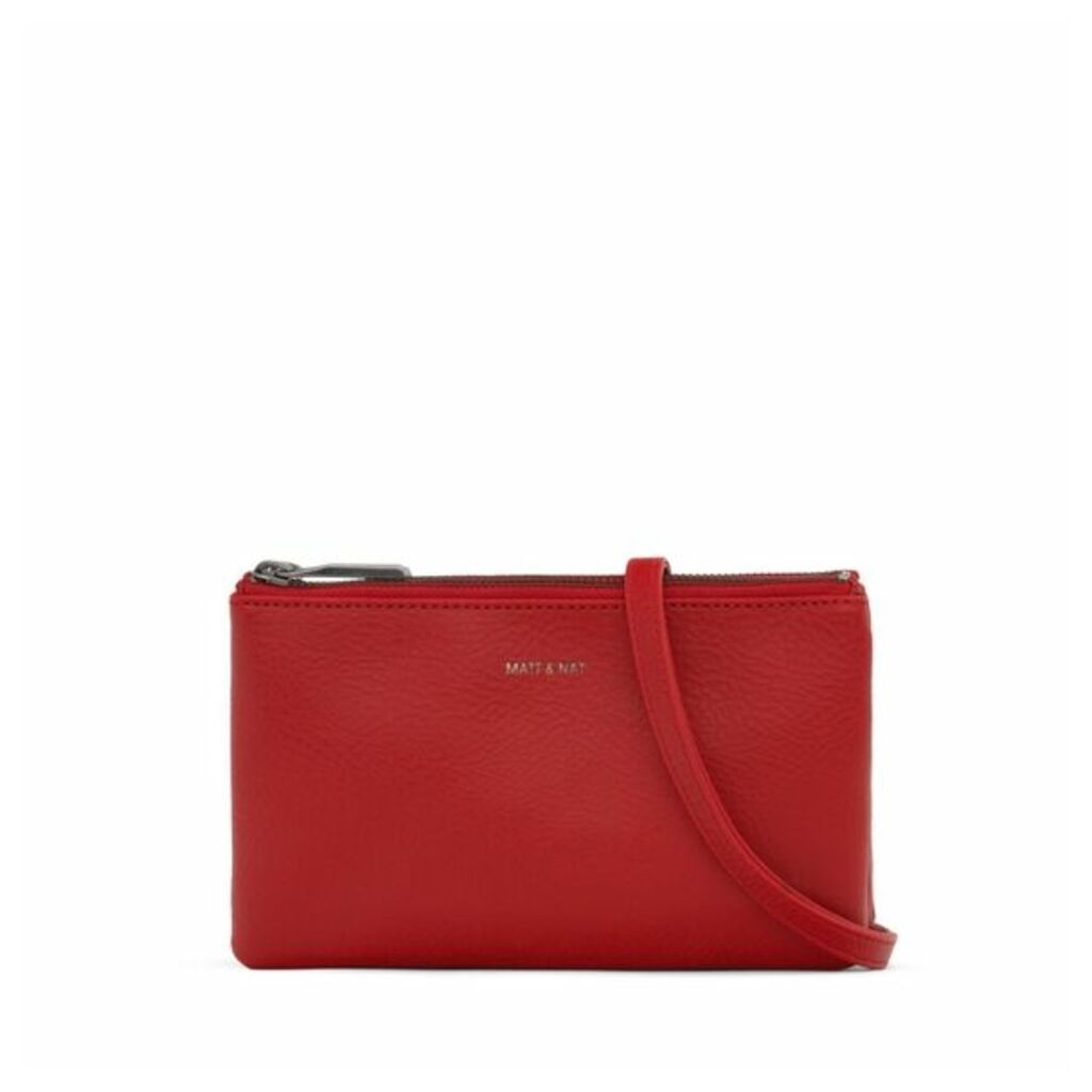 Matt & Nat Triplet Crossbody Bag Red
