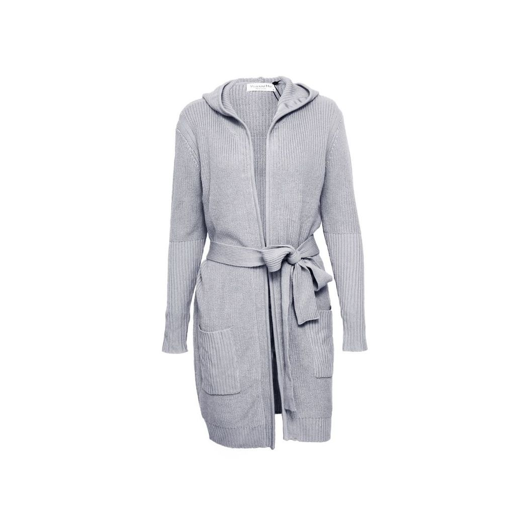 VHNY - Light Grey Cardigan With Waist Belt