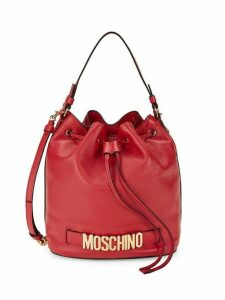 Logo Leather Bucket Bag