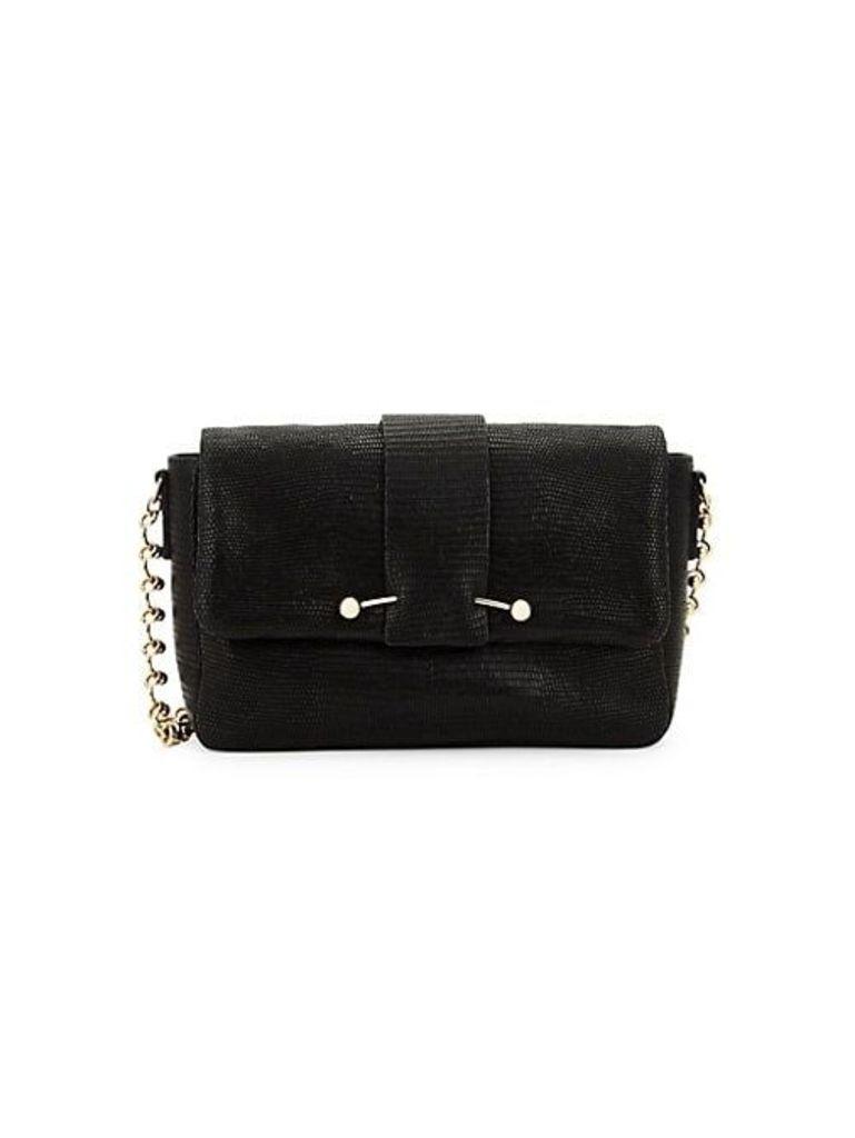 Small Embossed Leather Shoulder Bag