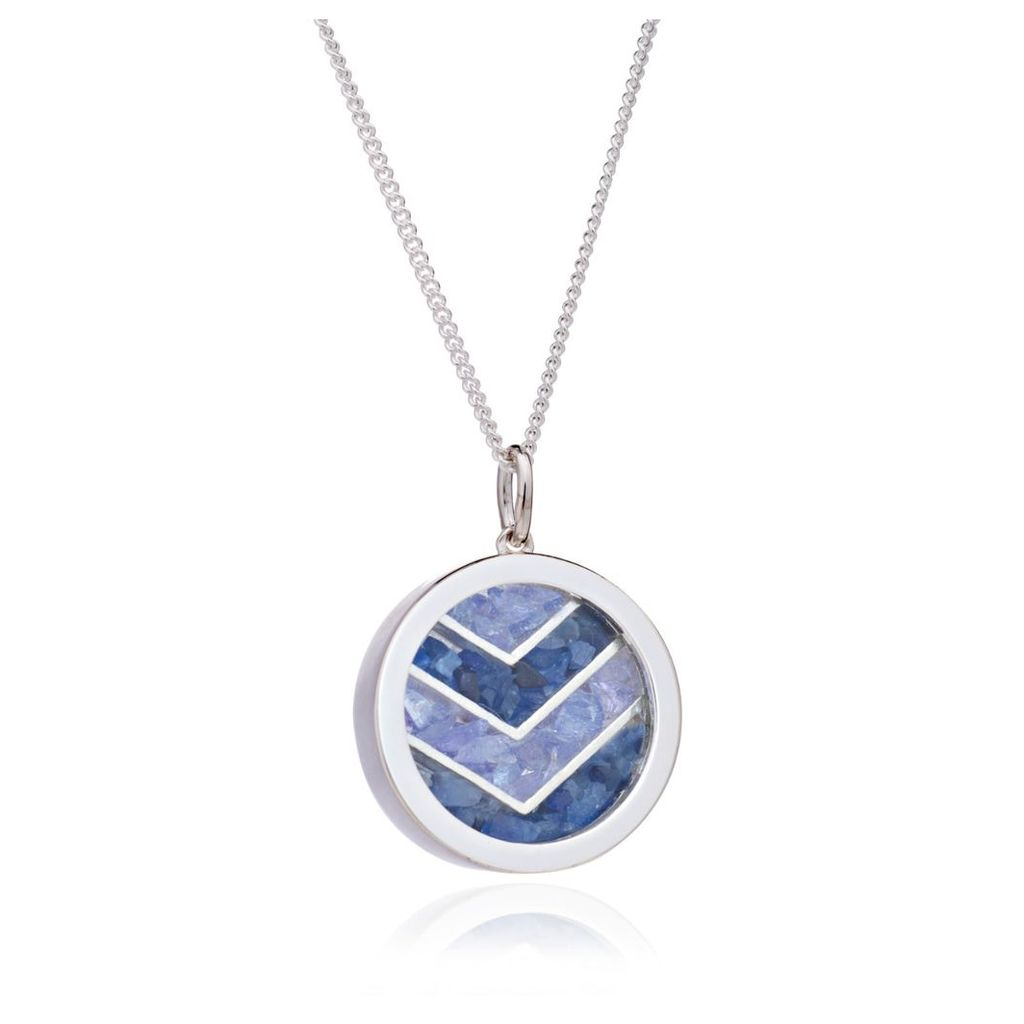 Rachel Jackson London - Small Love Chevron Amulet In Silver