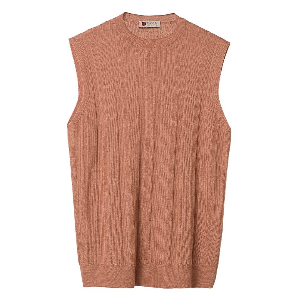 MAHI Leather - Buffalo Leather Large Tan Leather Cosmetics Bag Makeup Bag