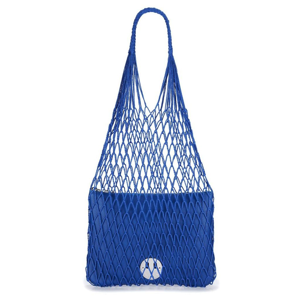 Hill and Friends - Royal Blue String Shopper With Happy Pouch