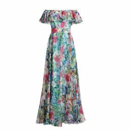 MATSOUR'I - Margo Silk Dress Blue Maxi