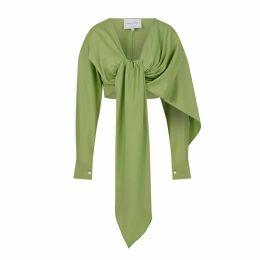 Anna Etter - Midi Turquoise Dress Flounce