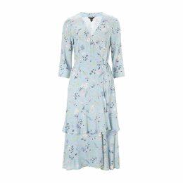 Baukjen - Kaia Wrap Dress In Light Blue Meadow Floral