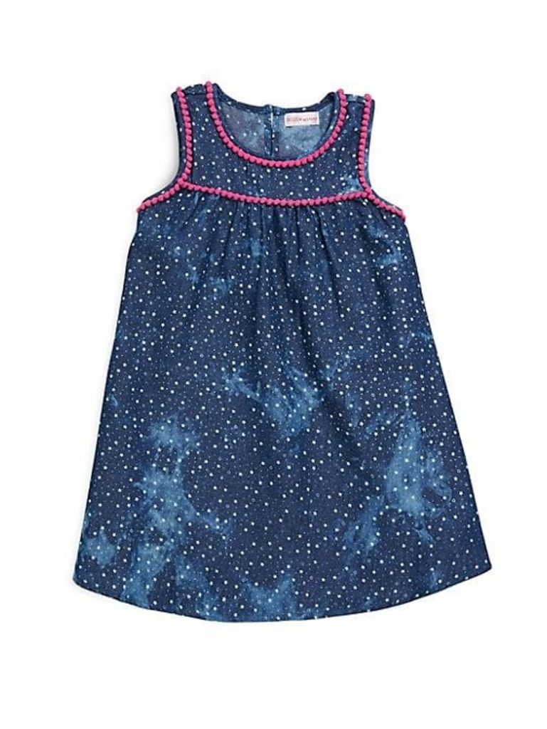 Little Girl's Printed Sleeveless Dress