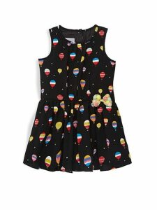 Little Girl's Hot Air Balloon-Print Dress