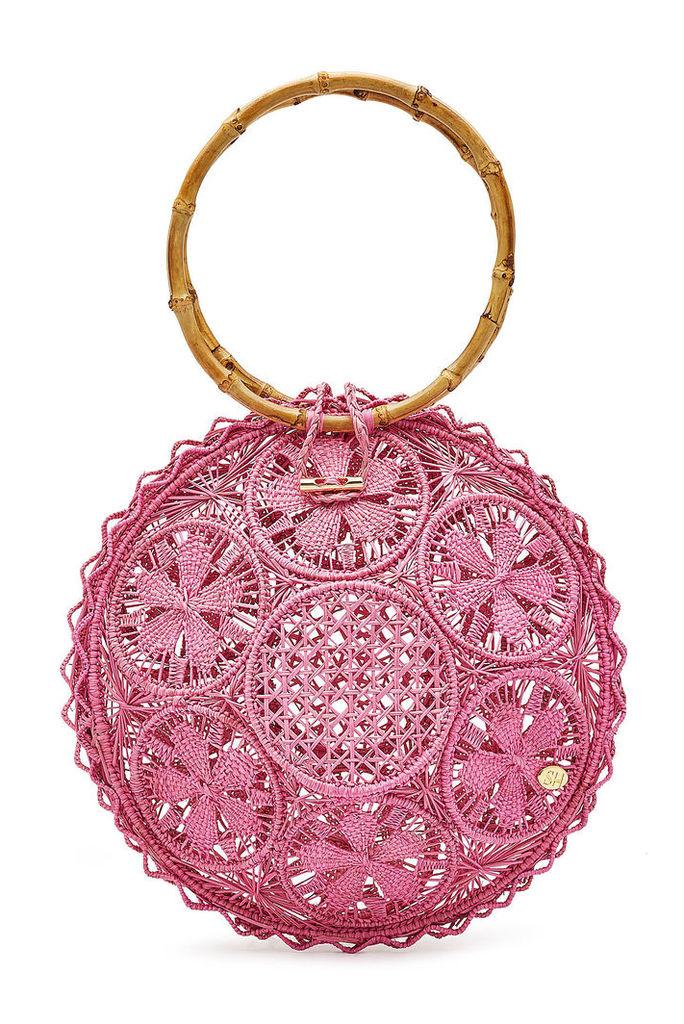 Soraya Hennessy The Ana Handwoven Handbag with Bamboo