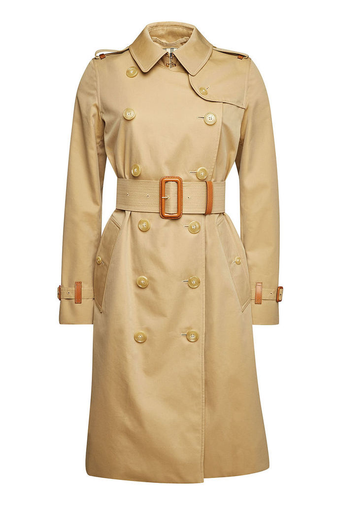 Burberry Clevelodelt Cotton Trench Coat