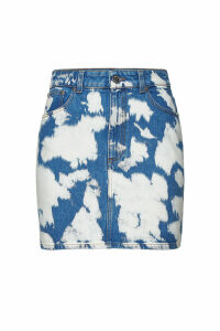 Burberry Printed Denim Skirt