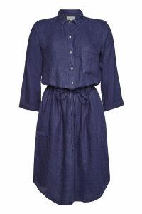Velvet Linen Dress