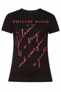 Philipp Plein Statement Printed Cotton Tee