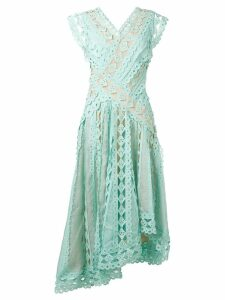 Zimmermann embroidered flared midi dress - Green