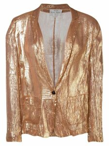 Forte Forte lightweight shimmer blazer - Gold