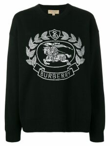 Burberry knitted crest jumper - Black