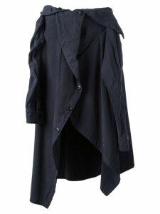 Faith Connexion draped shirt midi skirt - Black