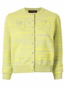 Caban striped slim-fit cardigan - Yellow