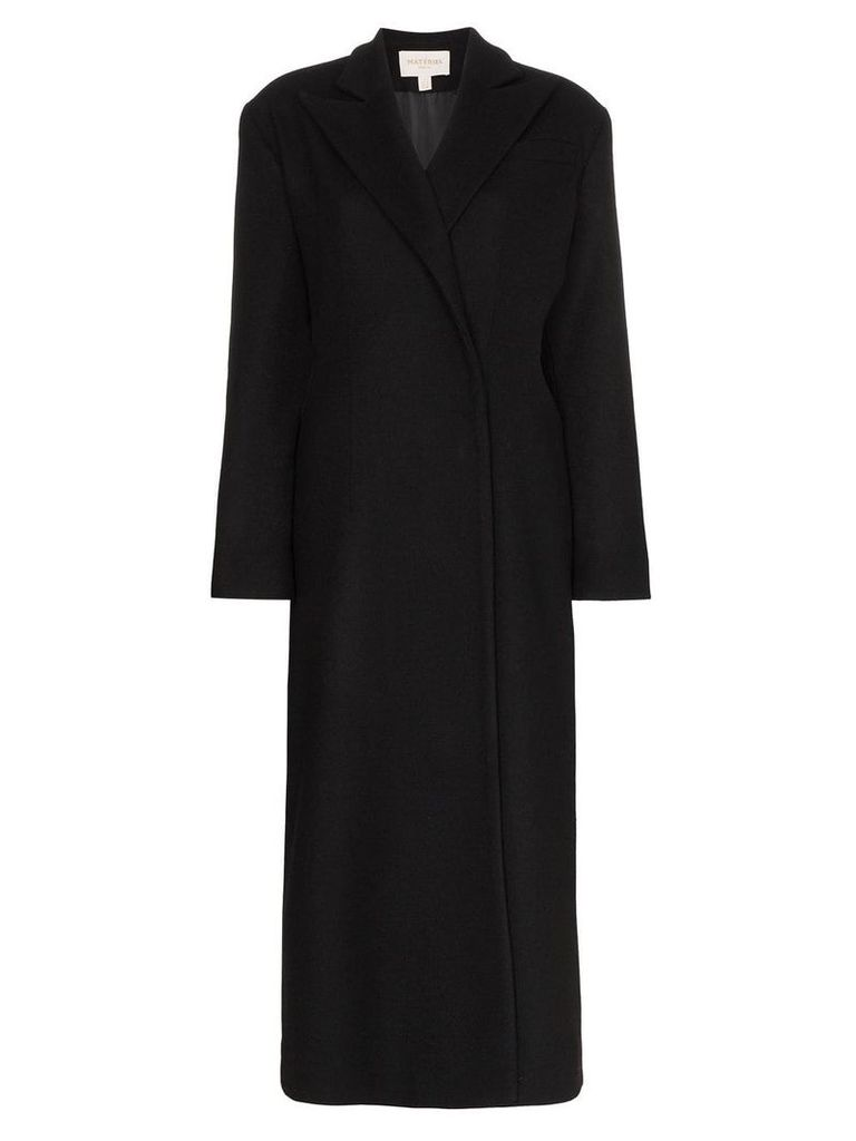 Matériel cut-out detail trench coat - Black