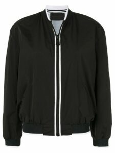 Anteprima contrast trim bomber jacket - Black