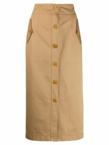 Givenchy button-up skirt - Neutrals